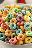 Coloful Fruit Cereal Loops