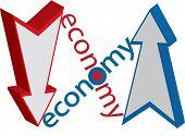 Economy Up Down Illustration