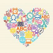 Back To School Love Concept Illustration