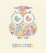 Education Wisdom Owl Concept Illustration