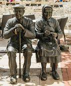 Two Elders Statue