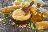 Corn grits polenta
