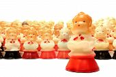 Antique Decorative Christmas Choir Candles Figurines
