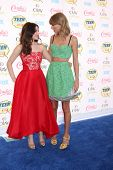 LOS ANGELES - AUG 10:  Odeya Rush, Taylor Swift at the 2014 Teen Choice Awards at Shrine Auditorium