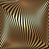 Vector abstract metal gold background with zigzag stripes