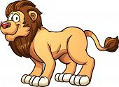 Cartoon male lion. Vector clip art illustration with simple gradients. All in a single layer.
