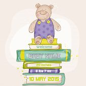 Baby Bear Shower or Arrival Card - with place for your text - in vector