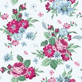 Vintage Floral Background - seamless pattern for design and scrapbook - in vector