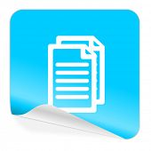 document blue sticker icon