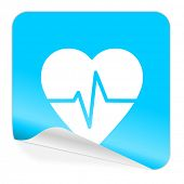 pulse blue sticker icon