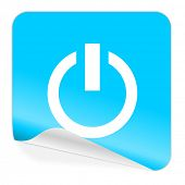 power blue sticker icon