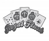 royal flush poker theme
