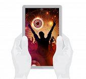 Party, festive background. Tablet presentation. Eps 10