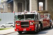 FDNY Tower Ladder 118 truck in Brooklyn