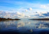 Cloudy Scenery On The River Volga
