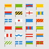 Different color flags set. Ready for a text