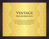 Luxury Golden Background In Vintage Style