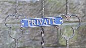 Old Private Sign