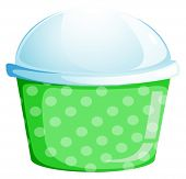 Illustration of an empty cupcake cup