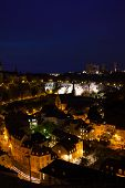 Night view of Luxembourg with street lights