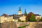 Luxemburg landmark view in sunny summer day