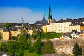 Luxemburg panorama view from high point in summer