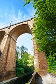 Close view Viaduc (Passerelle) arch, Luxembourg