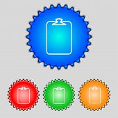 File Annex Icon. Attach Sign. Set Of Coloured Buttons. Vector