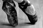 picture of studio  - Well Worn Black Ballet Shoe - JPG