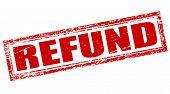 foto of reimbursement  - Stamp with word refund inside vector illustration - JPG