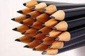 Black pencil nibs.