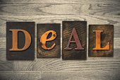 Deal Concept Wooden Letterpress Type