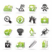 Ebola pandemic icons