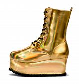 Golden Alien Shoe