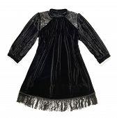 Stylish Black Dress With A Fringe