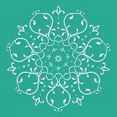 Symmetrical Floral Design