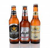 Sapporo, Kirin And Asahi Beers