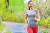 picture of country girl  - Woman nordic speed power walking - JPG