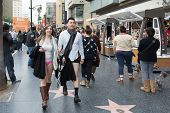 Couple Without Pants In Hollywood In The
