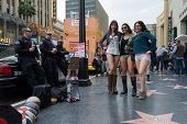 Women Without Pants And Police In Hollywood In The