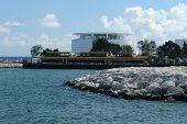 ein Bild von der neuen Marina an der Milwaukee Seeufer