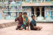 Thanjavour, India - February 14: An Unidentified Boys Were Sitting On The Roof Of The Brihadeeswarar