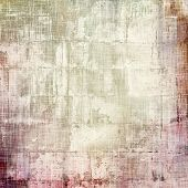 Abstract composition on textured, vintage background with grunge stains. With different color patterns: purple (violet); brown; gray; yellow (beige)