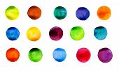 Vector watercolors circles pattern