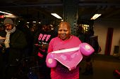 Breast cancer survivor shows her colors