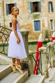Ballet, ballerina - young and beautiful ballet dancer, Venice Italy
