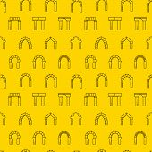 Vector background for architecture. Arches