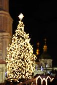 St. Sophia Cathedral And Christmas Tree In Kyiv