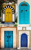 Doors Of Sidi Bou Said. La Gulett, Tunisia