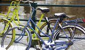 Amsterdam bikes.